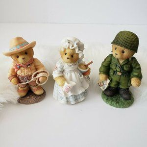 Cherished Teddies Collection Lot 3 figurines